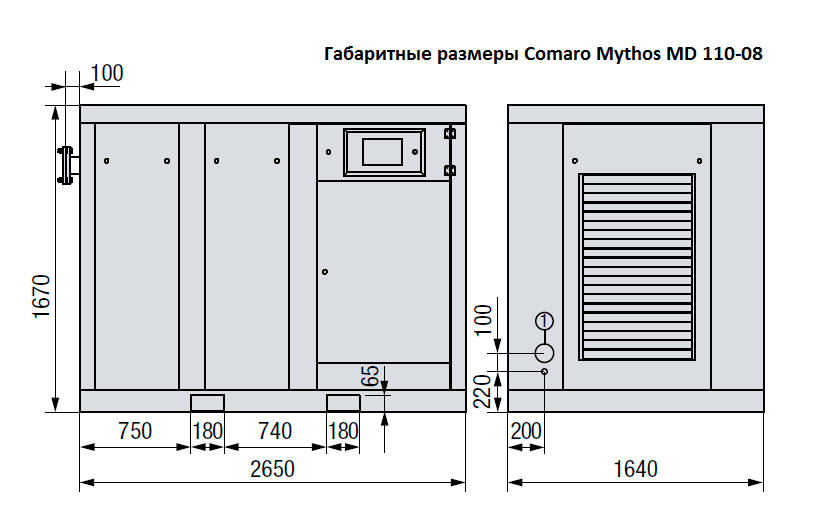 Компрессор COMARO MYTHOS MD 110-08 I